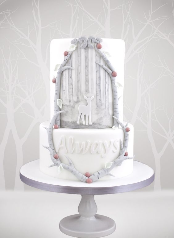 patronum wedding cake is a cute and unusual idea