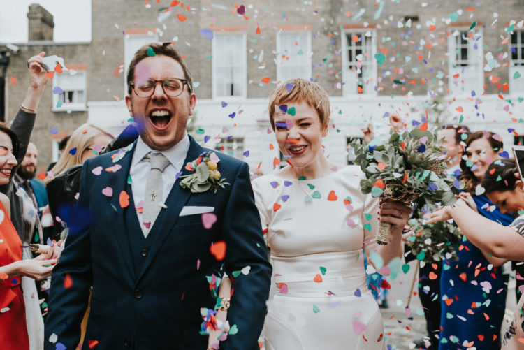 This London wedding was intimate and super fun with a lot of DIYs and succulents