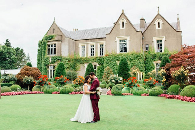 Chic Wedding With Burgundy And Blush Touches