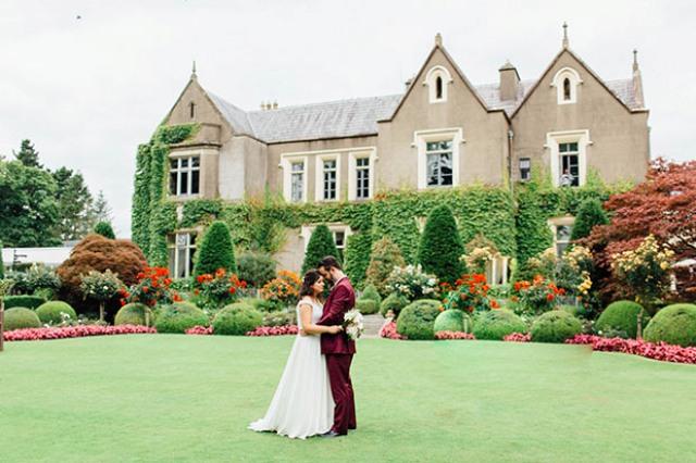 Chic Hochzeit Mit Burgund Und Der Blush Berührt