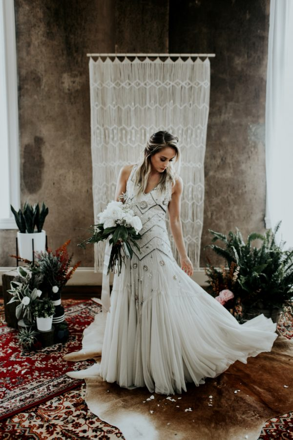 Chic Industrial Bohemian Wedding Shoot