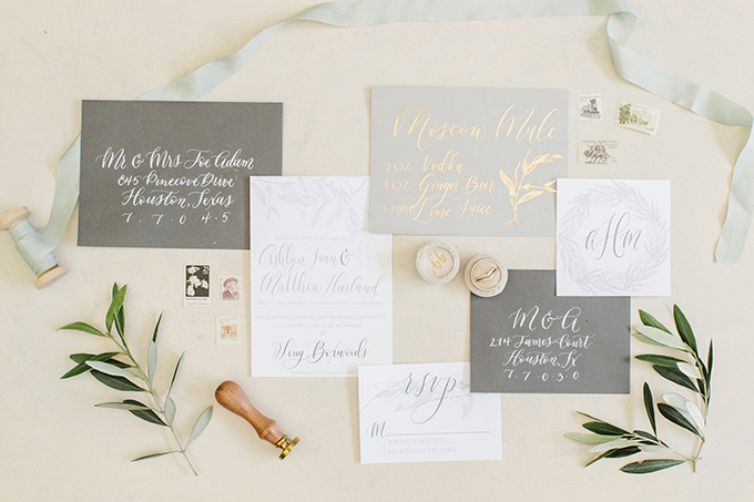 This neutral stationery suite was made especially for an organic modern wedding shoot