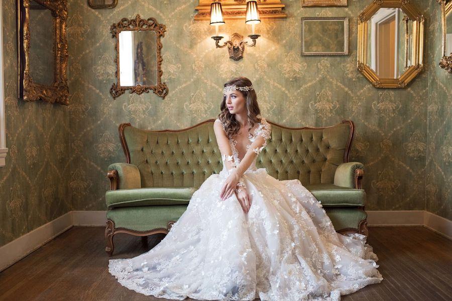 This romantic and elegant bridal shoot was inspired by Galia Lahav wedding gowns