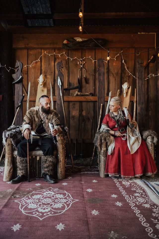 This unique wedding had pagan and viking themes and was inspired by the anscestors of the couple