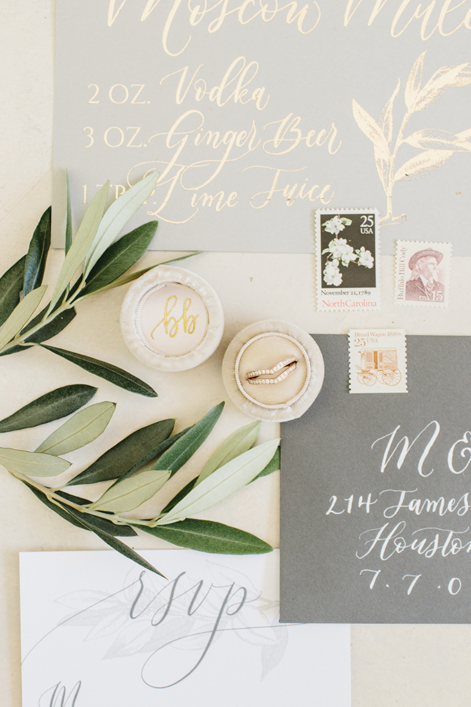 The shoot was styled in neutrals and with lots of greenery, almost no blooms at all