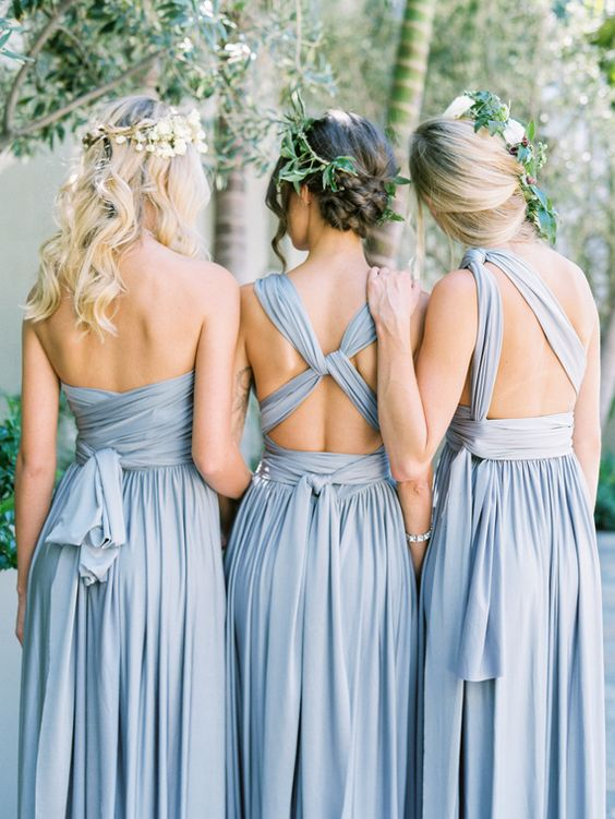 30 Bridesmaids\' Dresses In All Shades Of Blue - Weddingomania