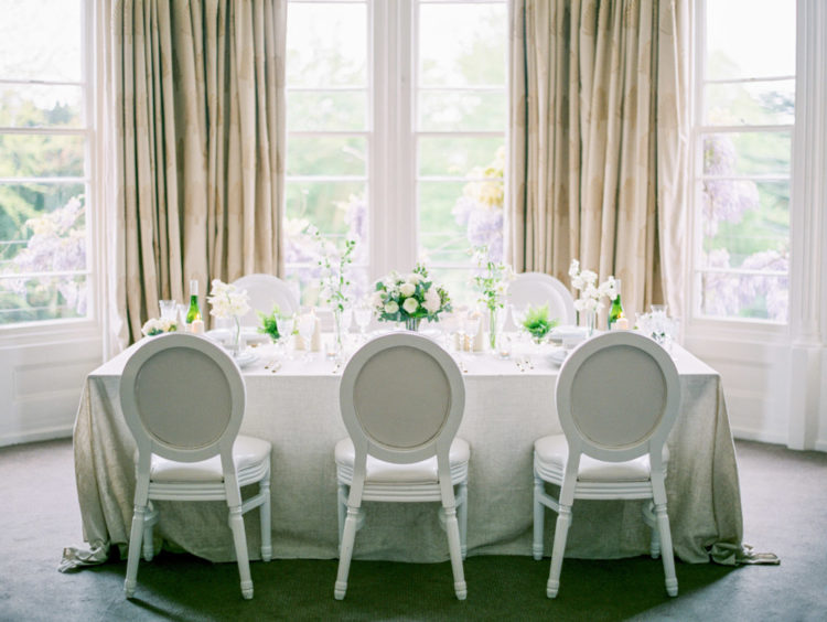 Refined vintage chairs added to the tablescape