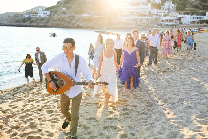 All the guests enjoyed having fun at this gorgeous beach wedding