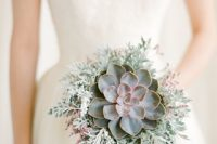 14 a pale succulent with pale millet and some pink touches for a non-traditional bride