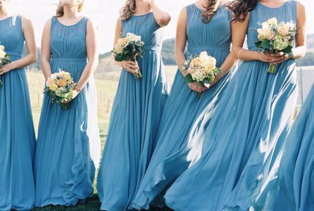 Midnight Blue Wedding Dresses 80 Epic French blue sleeveless illusion