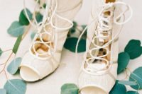 17 lace peep toe lace up booties for a romantic and very fashionable bridal look