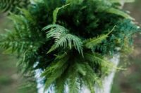 20 a fern wedding bouquet guarantees that your blooms won't wither
