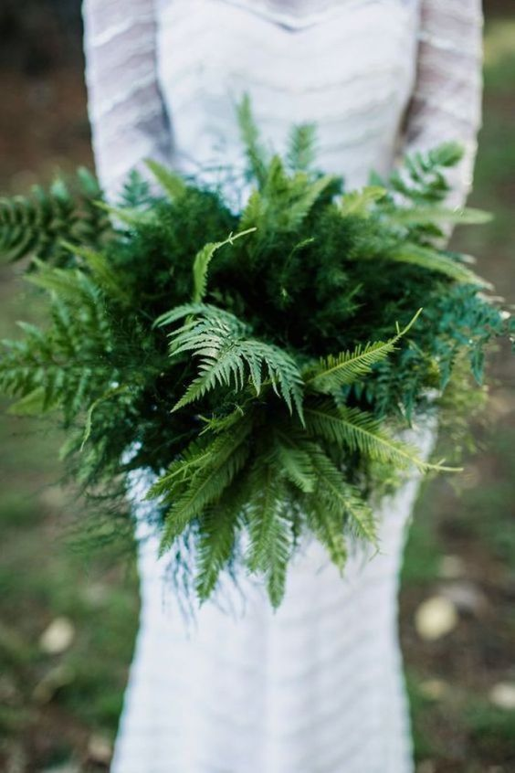 a fern wedding bouquet guarantees that your blooms won't wither