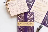 purple and gold wedding color combo