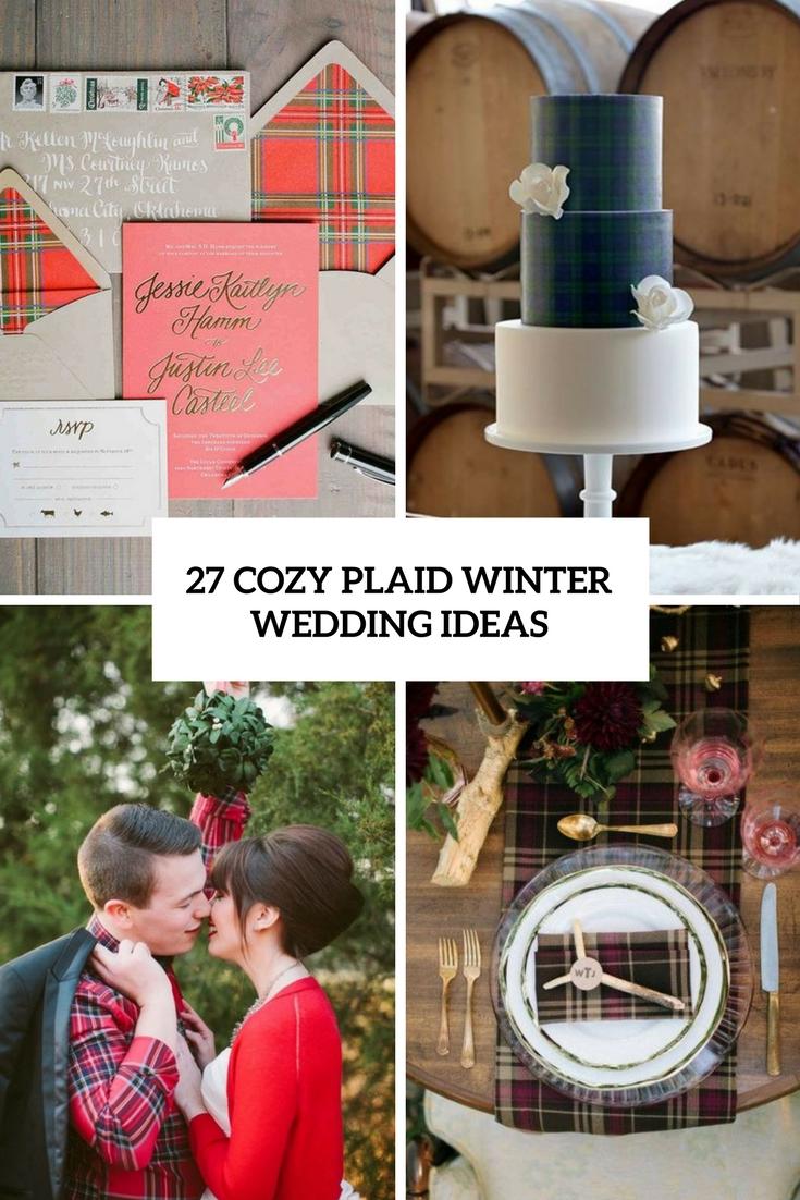 cozy plaid winter wedding ideas cover