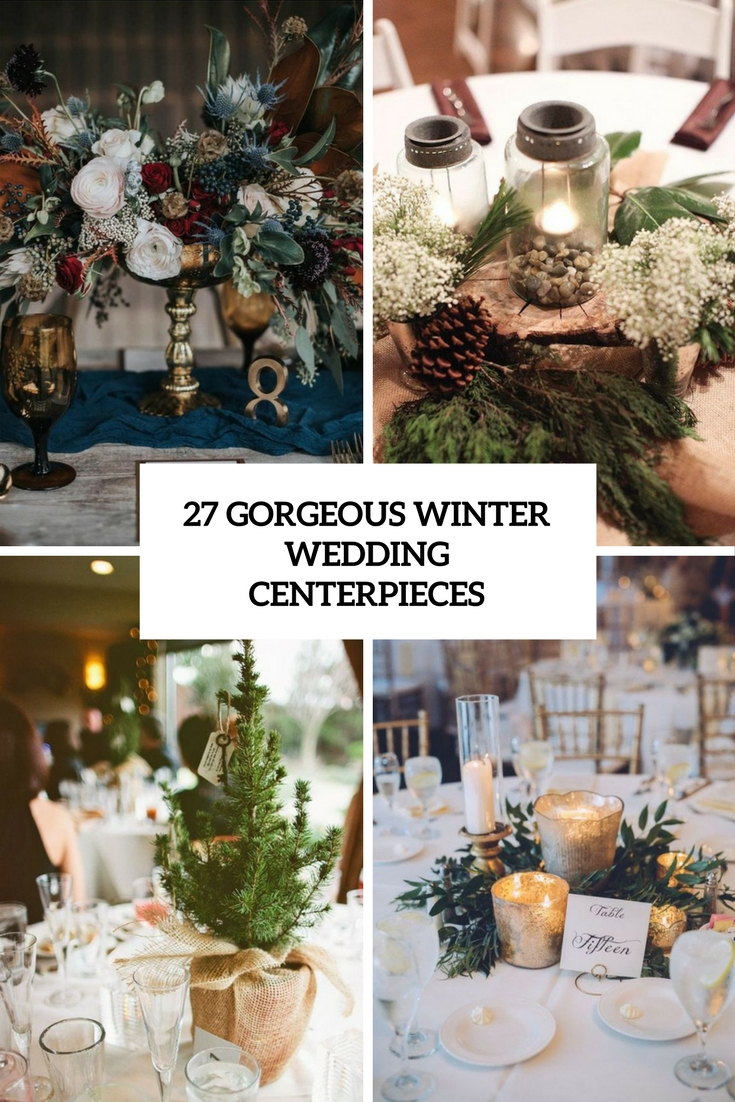 27 Gorgeous Winter Wedding Centerpieces - Weddingomania