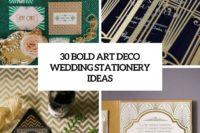 30 bold art deco wedding stationery ideas cover