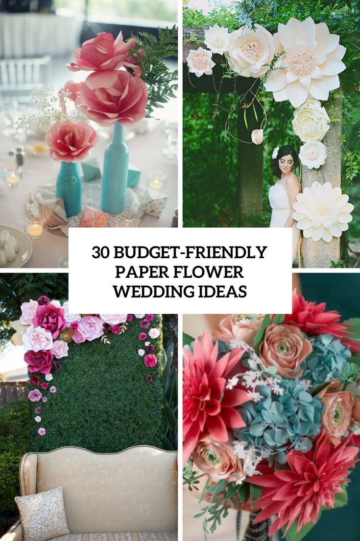 budget friendly paper flower wedding ideas cover