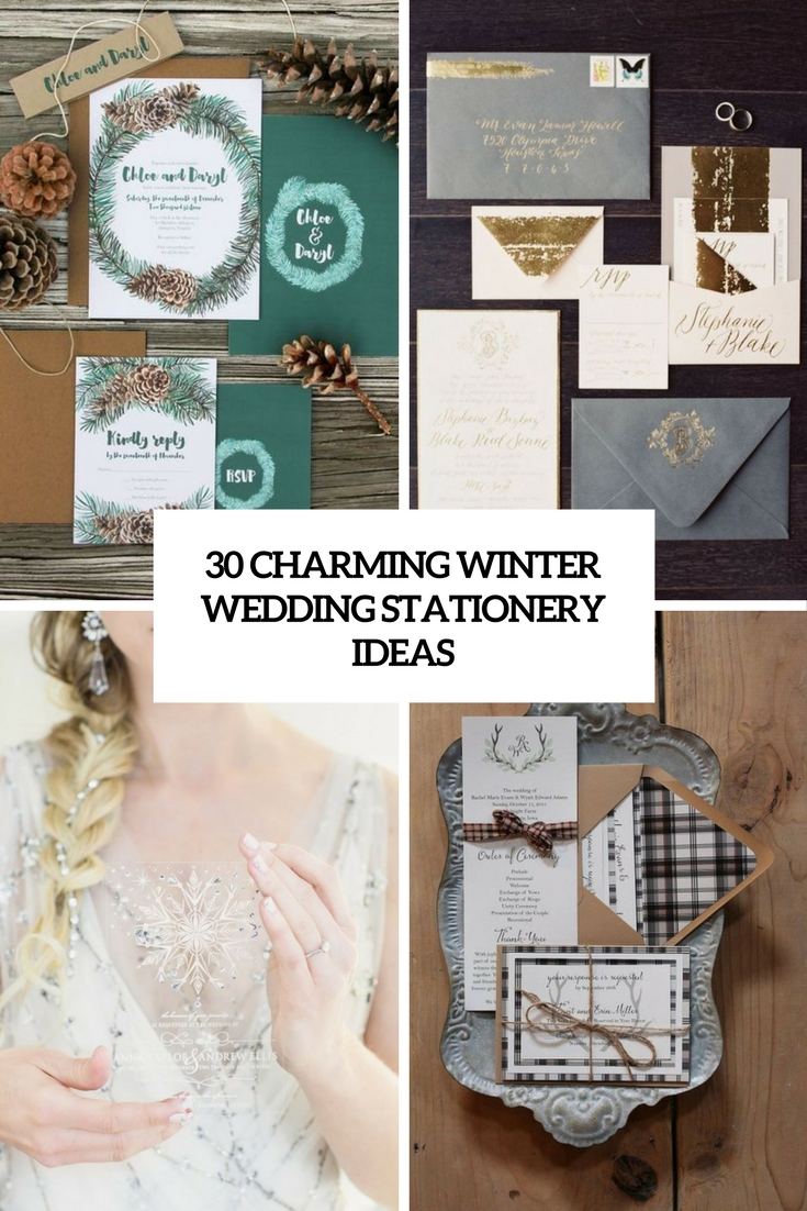 30 Charming Winter Wedding Stationery Ideas