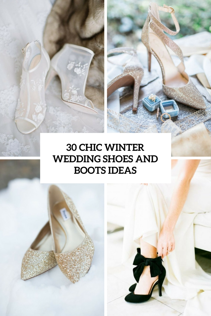 Chic Winter Wedding Shoes And Boots Ideas Cover