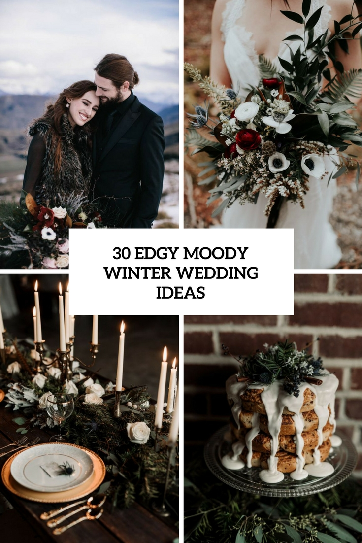 edgy moody winter wedding ideas cover