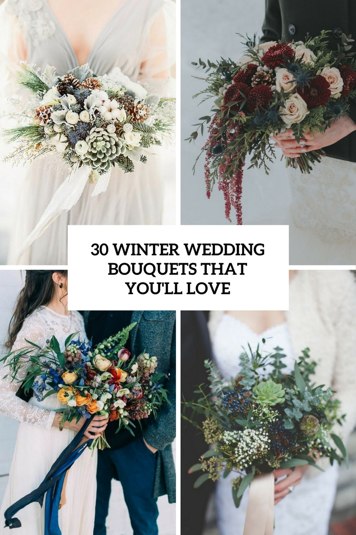 winter wedidng bouquets that you'll love cover