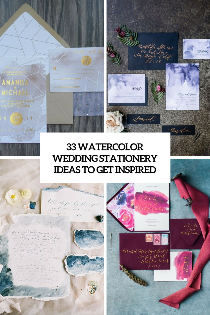 33 Watercolor Wedding Stationery Ideas To Get Inspired