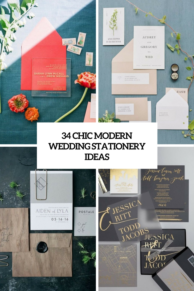 34 Chic Modern Wedding Stationery Ideas