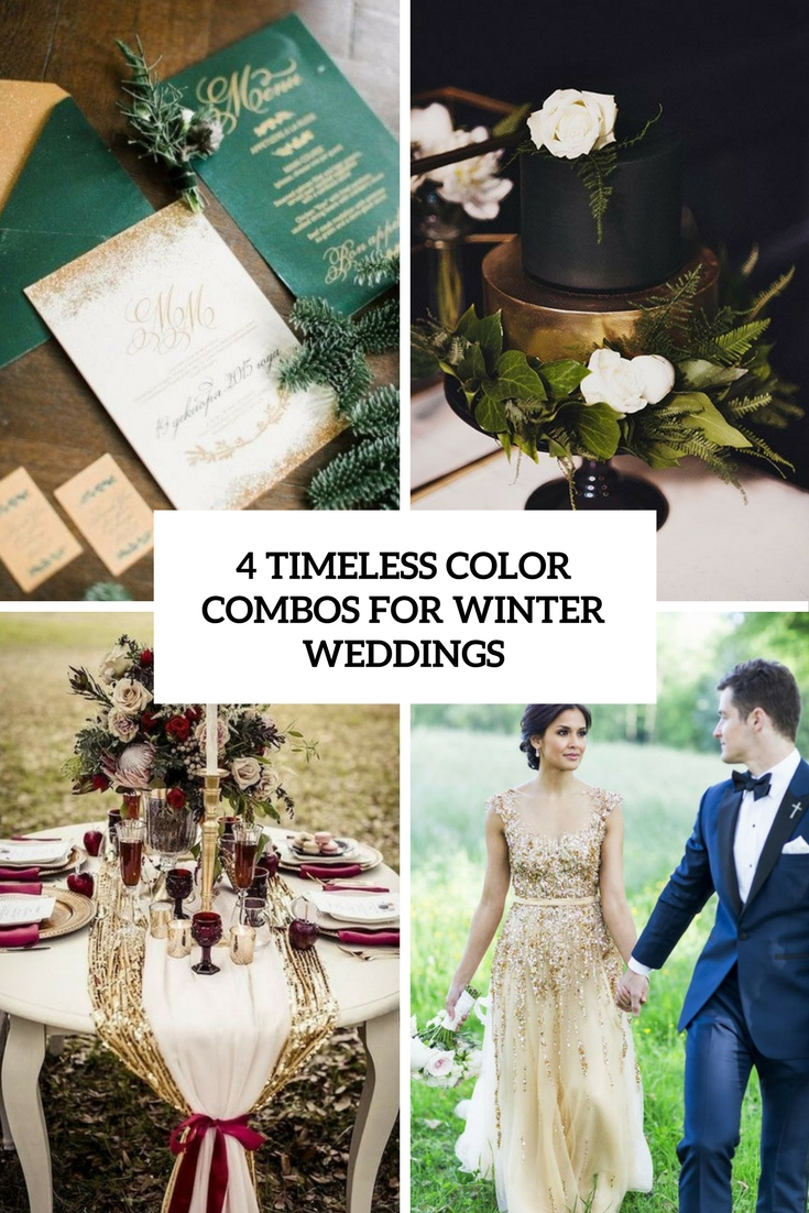 4 Timeless Color Combos For Winter Weddings