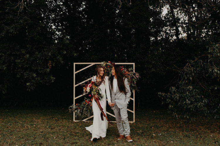 Boho Wedding Shoot With Bold Colors And Geometric Details