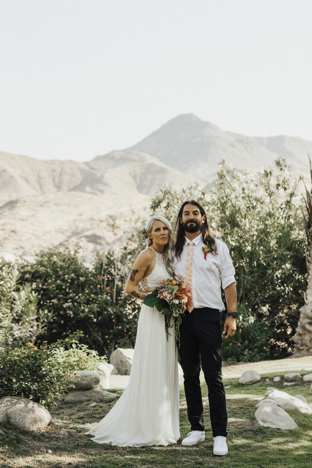 Boho Chic Desert Wedding In Palm Springs