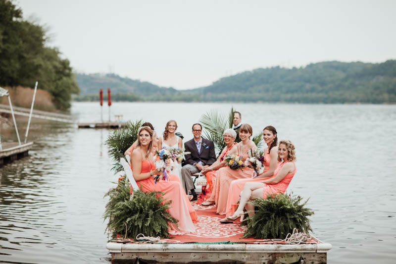 This laid back wedding took place on the river, it was filled with realxed touches and simple and rustic decor