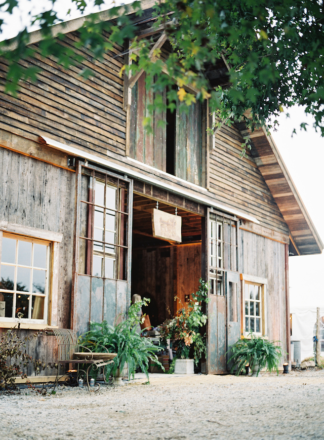 This barn was built right for the wedding