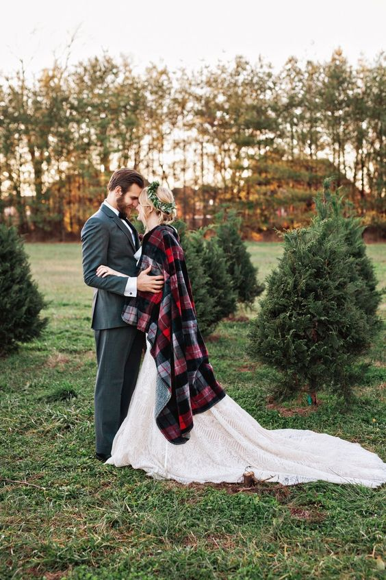 add a touch of Christmas to your look with a simple plaid coverup, you'll feel warm and cozy
