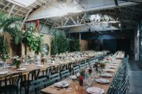 barn style wedding reception