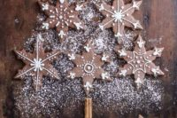 09 chocolate snowflake cookies with frosting are a simple and delicious idea for any winter dessert table