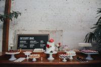 cool dessert bar for a wedding