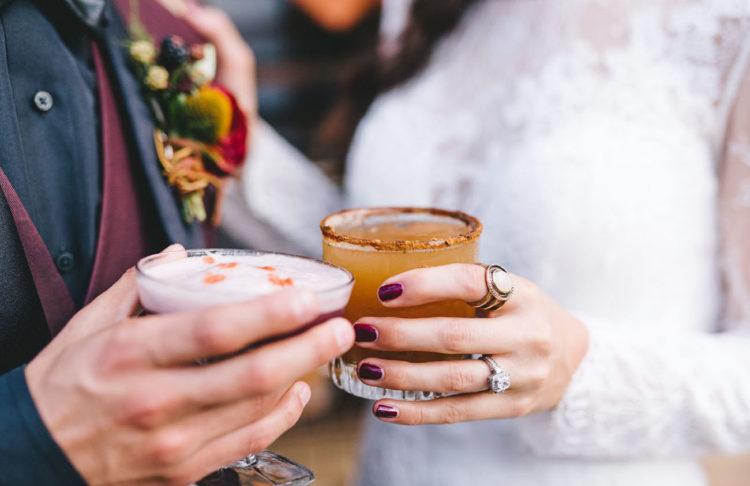 The couple enjoyed gorgeous cocktails