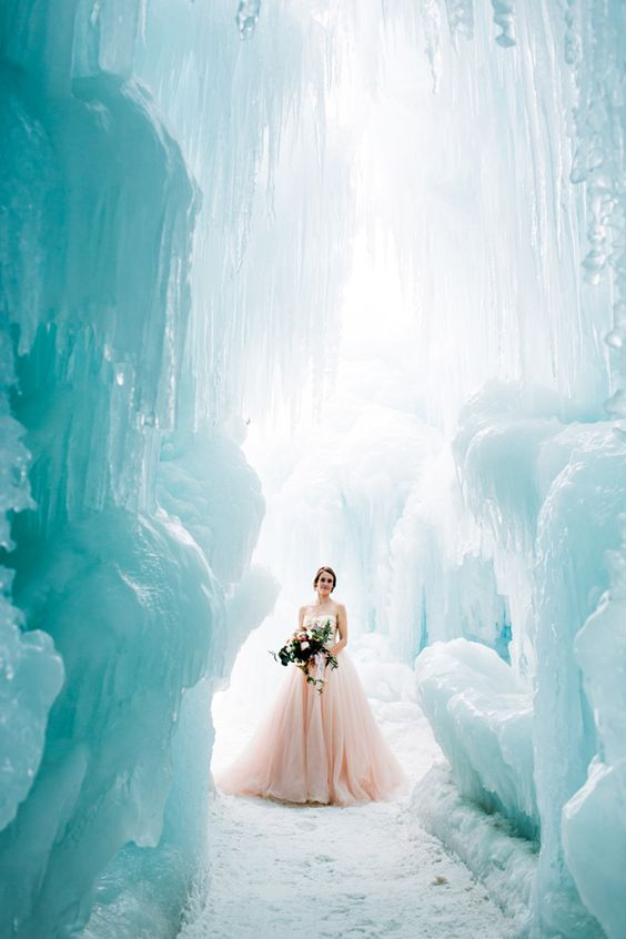 go for an ice cave ceremony - what can be more icy than real ice,plus it's a very spectacular place
