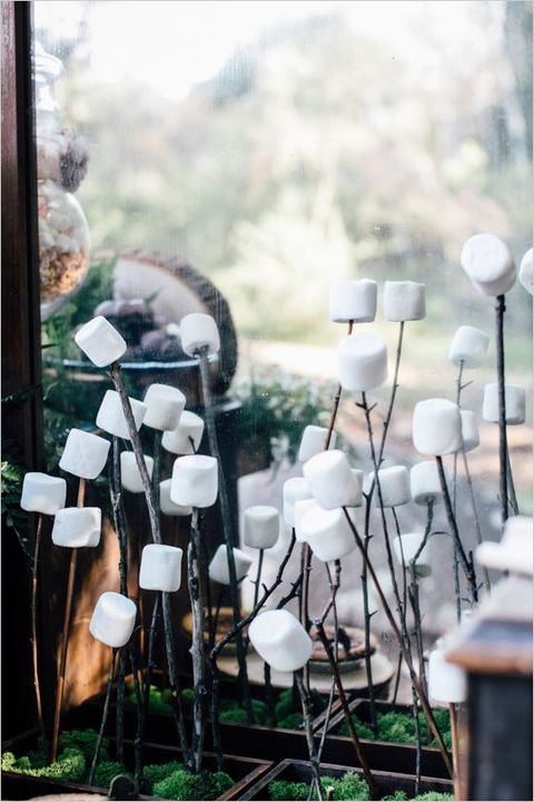 you can also arrange marshmallows on sticks if it's a rustic or camp wedding