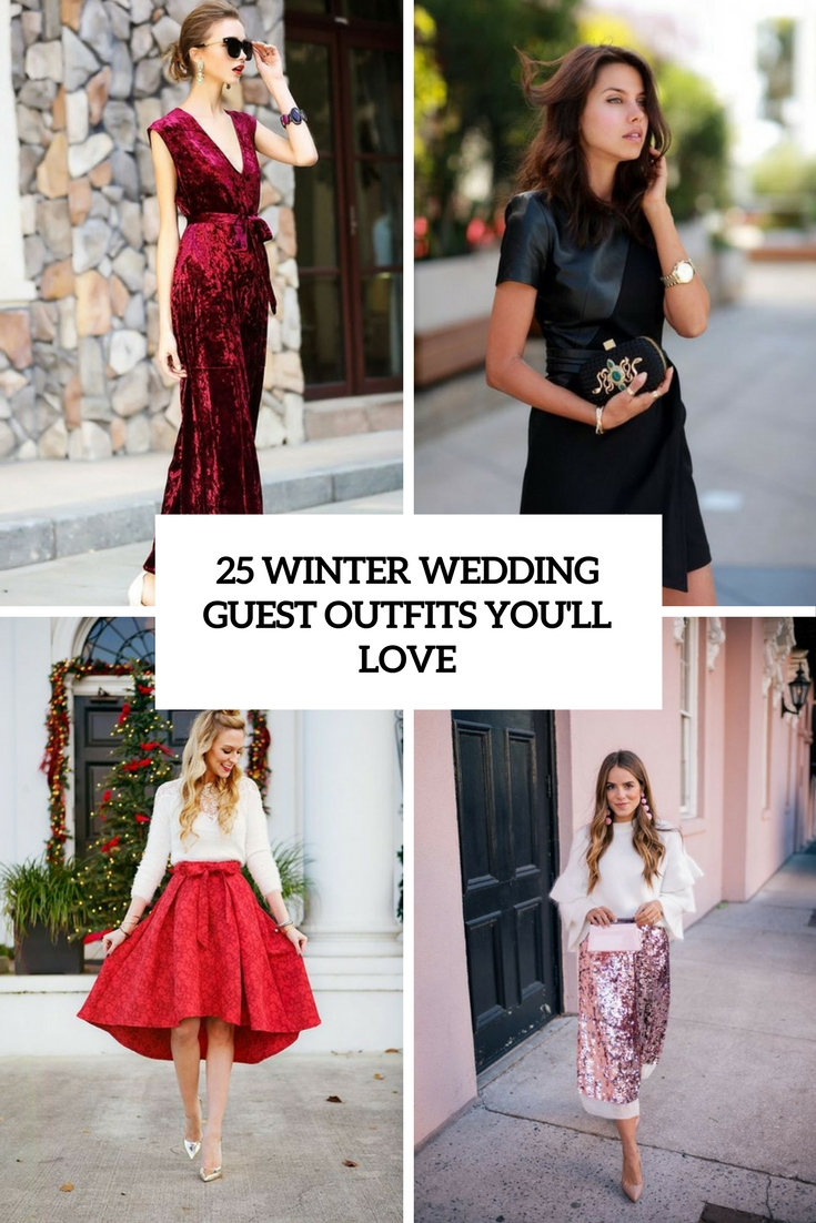 Wedding of guest dresses winter images