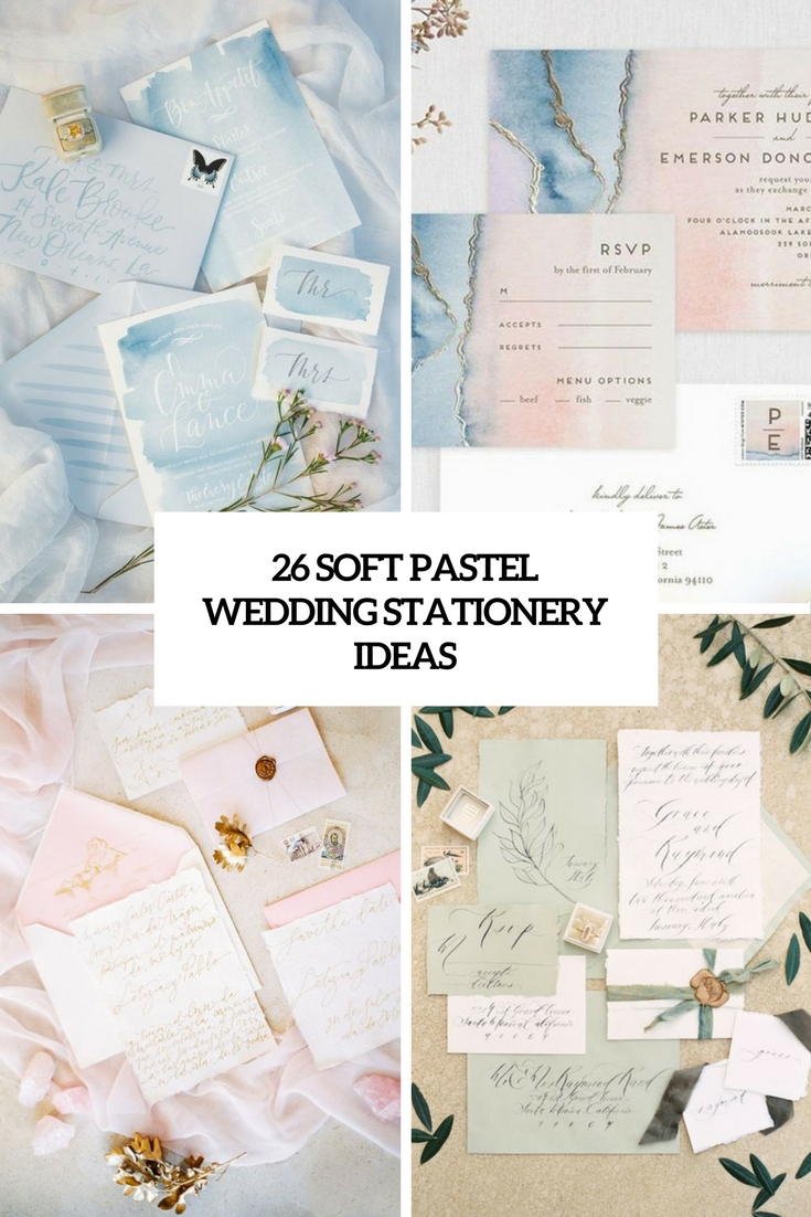 26 Soft Pastel Wedding Stationery Ideas