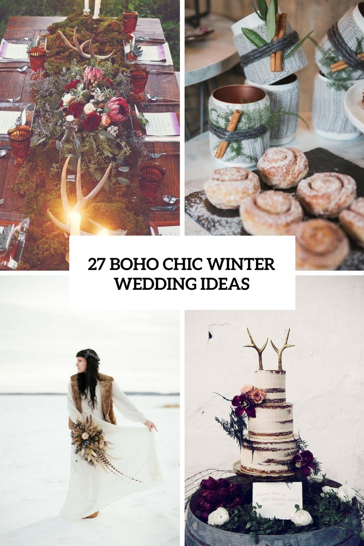 boho chic winter wedding ideas cover