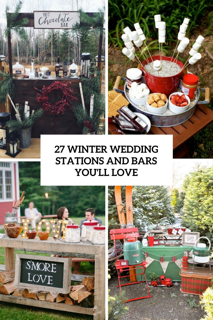 27 Winter Wedding Stations And Bars You'll Love