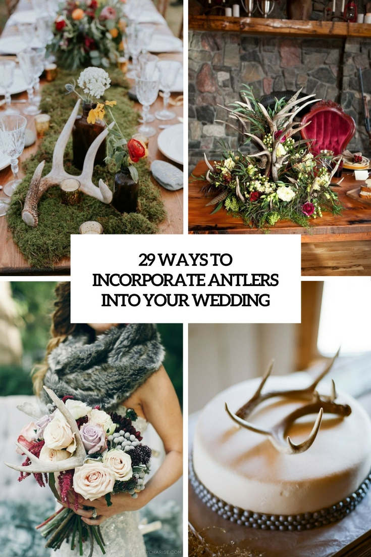 ways to incorporate antlers into your wedding cover