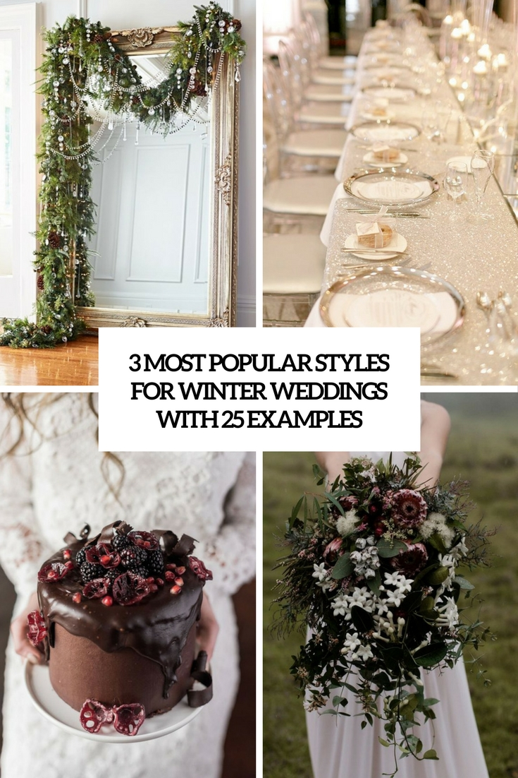 3 most popular styles for winter weddings with 25 examples cover