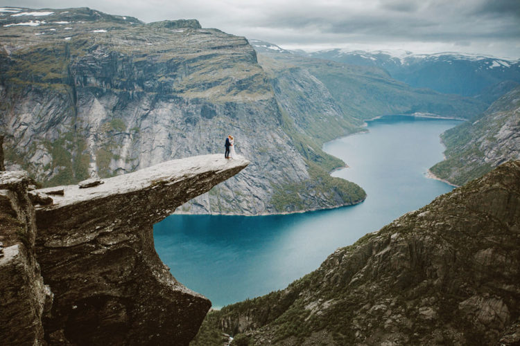 Misty Mountain Elopement On The Edge Of Trolltunga