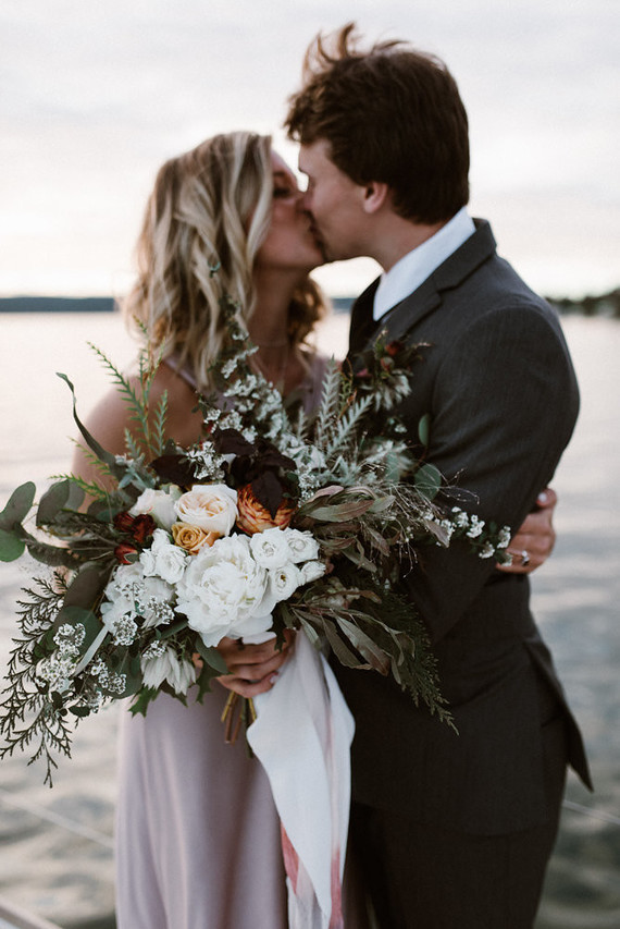 This beautiful real couple became the main characters of the gorgeous sailboat elopement editorial