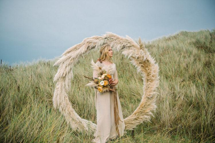 Fall Coastal Wedding Shoot In Earthy Tones