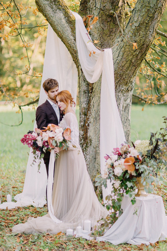 Autumn Castle Wedding Editorial With Ethereal Details